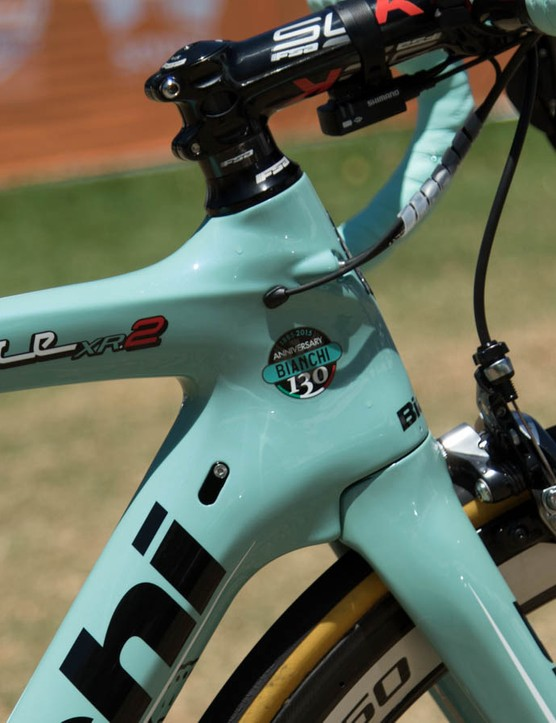 We like how cleanly the fork integrates with the head tube on these Bianchi's