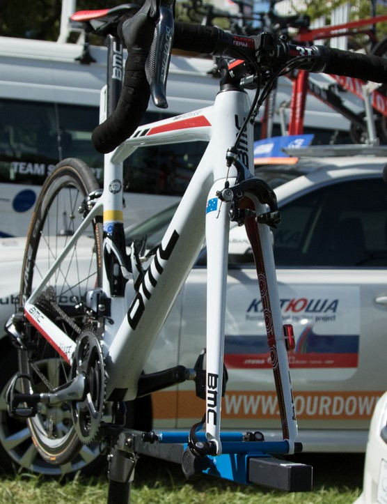 BMC gave Cadel Evans a farewell Team Machine - we've covered this in more detail already, see our TDU15 tag page