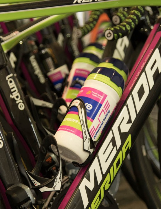 Lampre-Merida were still on their older bikes, but we're told the only change is a move to Matte paint