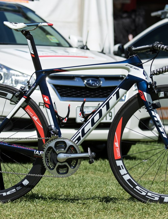 New to WorldTour, IAM Cycling are on Scott. This is Heinrich Haussler's that we featured already