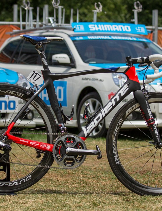 FDJ were mostly riding the Lapierre Aircode - pictured is Jussi Veikkanen's bike (full feature coming soon)