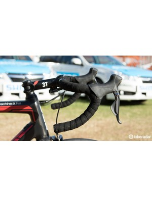 BMC Racing has special team-issue 3T components for clearer logo placement