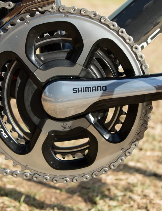 The most common power meter in the peloton - BMC Racing uses the SRM Shimano 11-speed