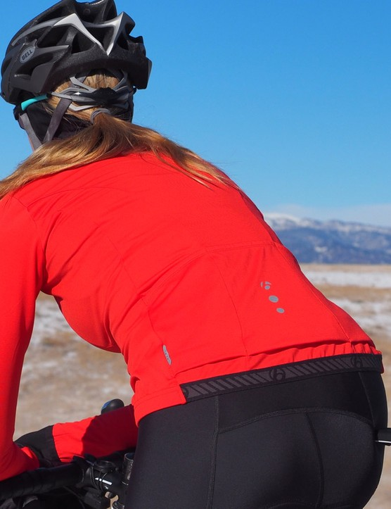 Grippers keep everything in place, and the winter jersey works well on its own or as an insulating base layer