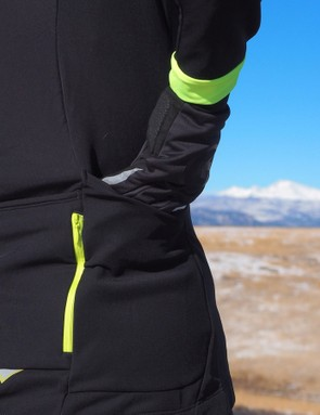 Big pockets are key on winter jerseys, as you're often lugging layers or extra gloves