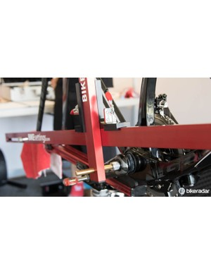 Going off the bottom bracket gives a very accurate dimension to ensure such things as saddle setback and saddle height are correct