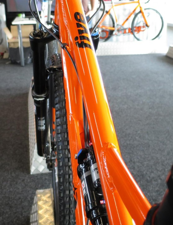 Thae new Five has a slimmer top tube with a new gusset