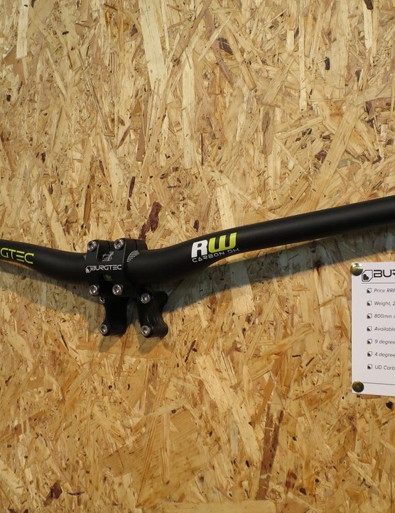 Burgtec has answered the demand for rider steering sticks with this, an 800mm version of its carbon DH bar. It's £125 and 280g, if you were wondering..