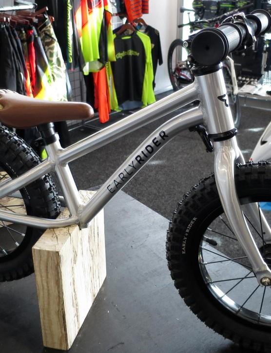 The Trail Runner from Early Rider is like a miniature kids' fat bike, we love it