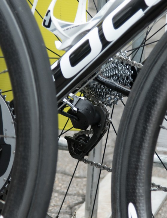 The Ag2r-La Mondiale had the new SRAM wireless electronic components on at least four bikes at the Tour Down Under