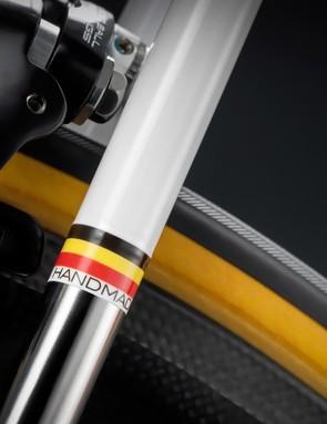 The steel bikes are TIG-welded in Belgium