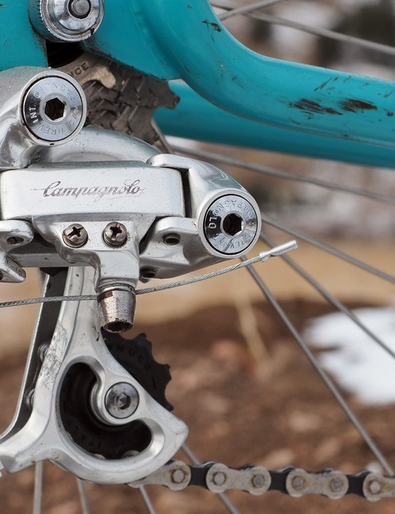 The Campagnolo Euclid rear derailleur is a beautiful piece of kit but like the rest of the groupset, it unfortunately also didn't work that well
