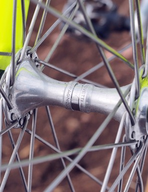 The Campagnolo Euclid hubs feature grease ports in the body for easy bearing overhauls