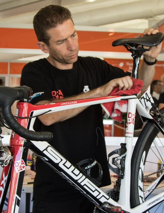 A day in the life of a pro race mechanic - with Drapac Professional Cycling