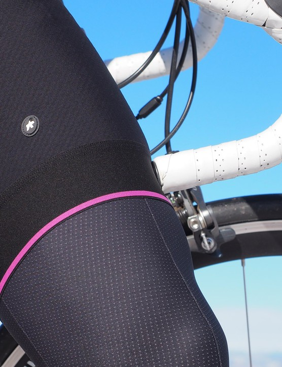 The Assos bibs stay snugly in place without bunching or constriction