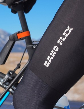 Nano Flex is Castelli's water-repellent technology. It works well for shedding short sprays, but isn't waterproof
