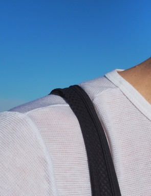The Castelli straps are comfortable enough, even if they have a tendency to bunch a little