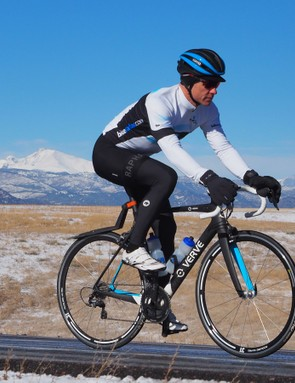Rapha's Pro Team Winter Bibs have the thickest chamois of the bunch, but since it's well-cut and placed, it's comfortable for long rides