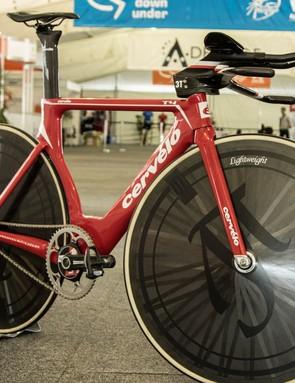 Jack Bobridge's Cervélo T4 world hour record bike