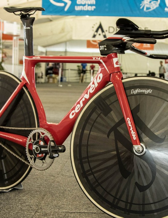 Jack Bobridge's Cervélo T4 world hour record bike