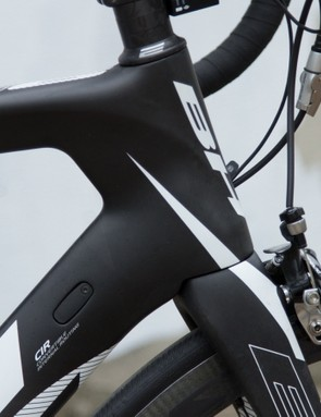 The trailing edge of the head tube is reminiscent of an aircraft wing