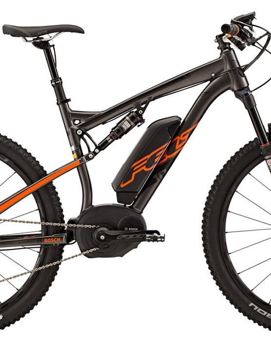 The Felt DUELe 10 uses a Bosch pedal-assist motor system that adds up to 350W of output to your own pedaling efforts