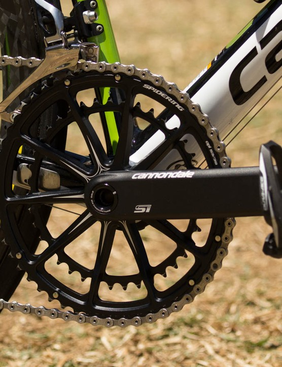 Cannondale now offers 180mm HollowGram cranks, based on a request from Hesjedal
