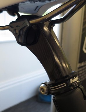 This is Hope's prototype carbon seatpost - made by Hope in Britain
