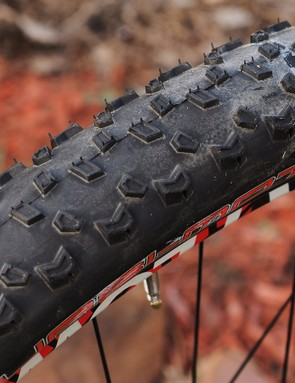 The Panaracer Quasi-Moto tyres are aimed at hardpacked conditions with a fast-rolling, low-profile tread