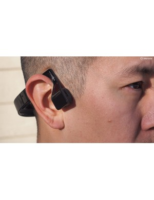 Unlike conventional headphones that sit on or in your ears, the Aftershokz Bluez 2 bone conduction headphones leave your ear canals open to hear outside noises