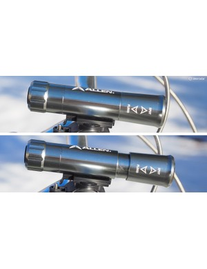 The front light can be adjusted between a spot or flood beam pattern