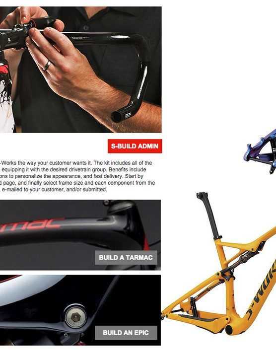 Specialized offers both road and mountain bikes in its new S-Build program, although the actual models are limited to just the S-Works Tarmac and Tarmac Disc, and the S-Works Epic and Epic World Cup. All will feature more intricate paint jobs that are exclusive to S-Build