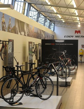 The product display area of the Merckx factory in Zellik, Brussels