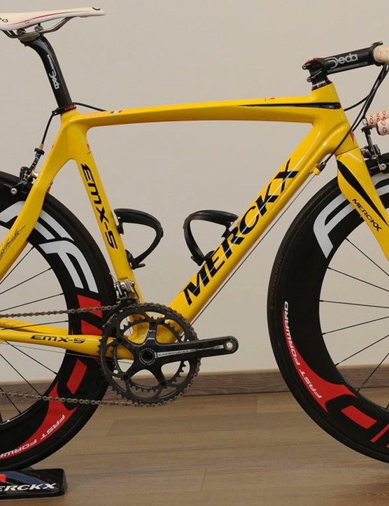 Sylvain Chavanel's yellow EMX-5 bike from his time in the leader's jersey at the 2010 Tour