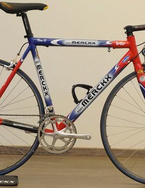 Peter Van Petegem's 2003 Team SL Paris-Roubaix and Tour of Flanders winning bike