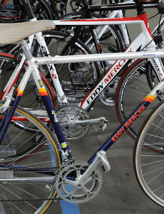 No idea what this mid 90s Merckx was doing amongst the new builds