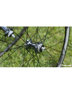 The Centerlock hubs are an Ultegra-level item with increased sealing for greater protection from grime and muck