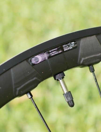 External nipples make wheel truing easy, and the spoke wrench for these is included. The tubeless valves come with the wheels