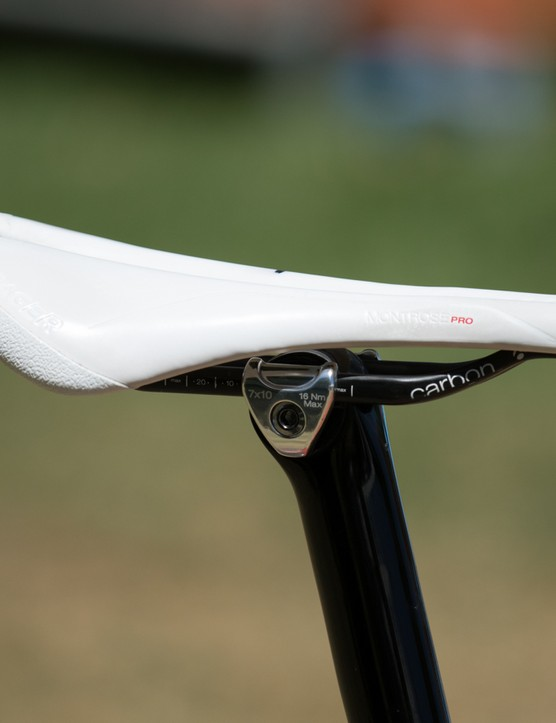 Just like on his mountain bike, McConnell uses a Bontrager Montrose Pro saddle in a 138mm width