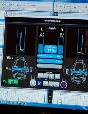 BikeFitting's Pedaling Analysis looks at where on each pedal the power is applied, and how evenly around the stroke