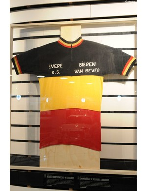 Merckx's first Belgian Champion's jersey for his amateur club