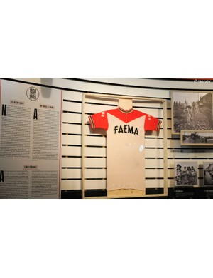 The achingly stylish Faema jersey worn by Merckx for some of his finest seasons