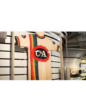 A rare sight of the C&A jersey Merckx wore for his truncated final season in 1978