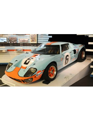 Alongside Martini Racing, the Gulf racing colours of this 1969 Le Mans winning Ford GT40 are among motorsport's most distinctive