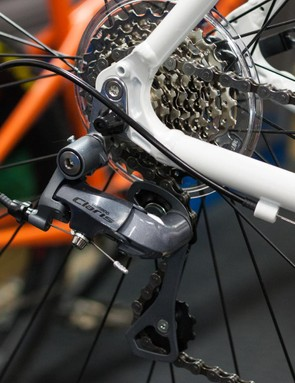 Shimano's Claris components do a great job of looking more expensive than they are