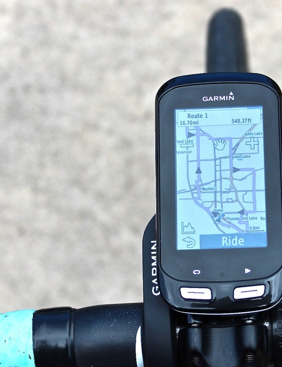 A GPS unit can help ease the stress of navigation and let you know when big hills are coming up