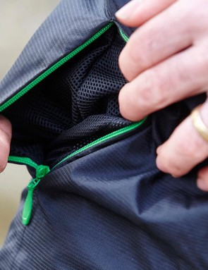 Zipped stash pockets are a neat touch