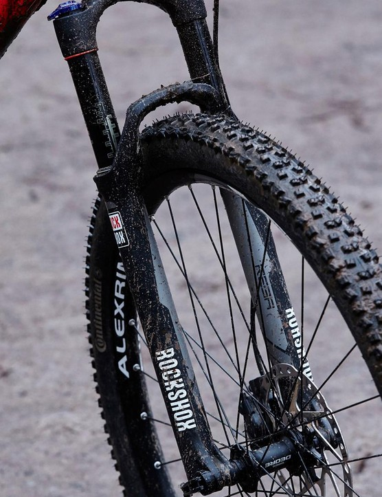 Big wheels and 120mm fork make light work of technical trails