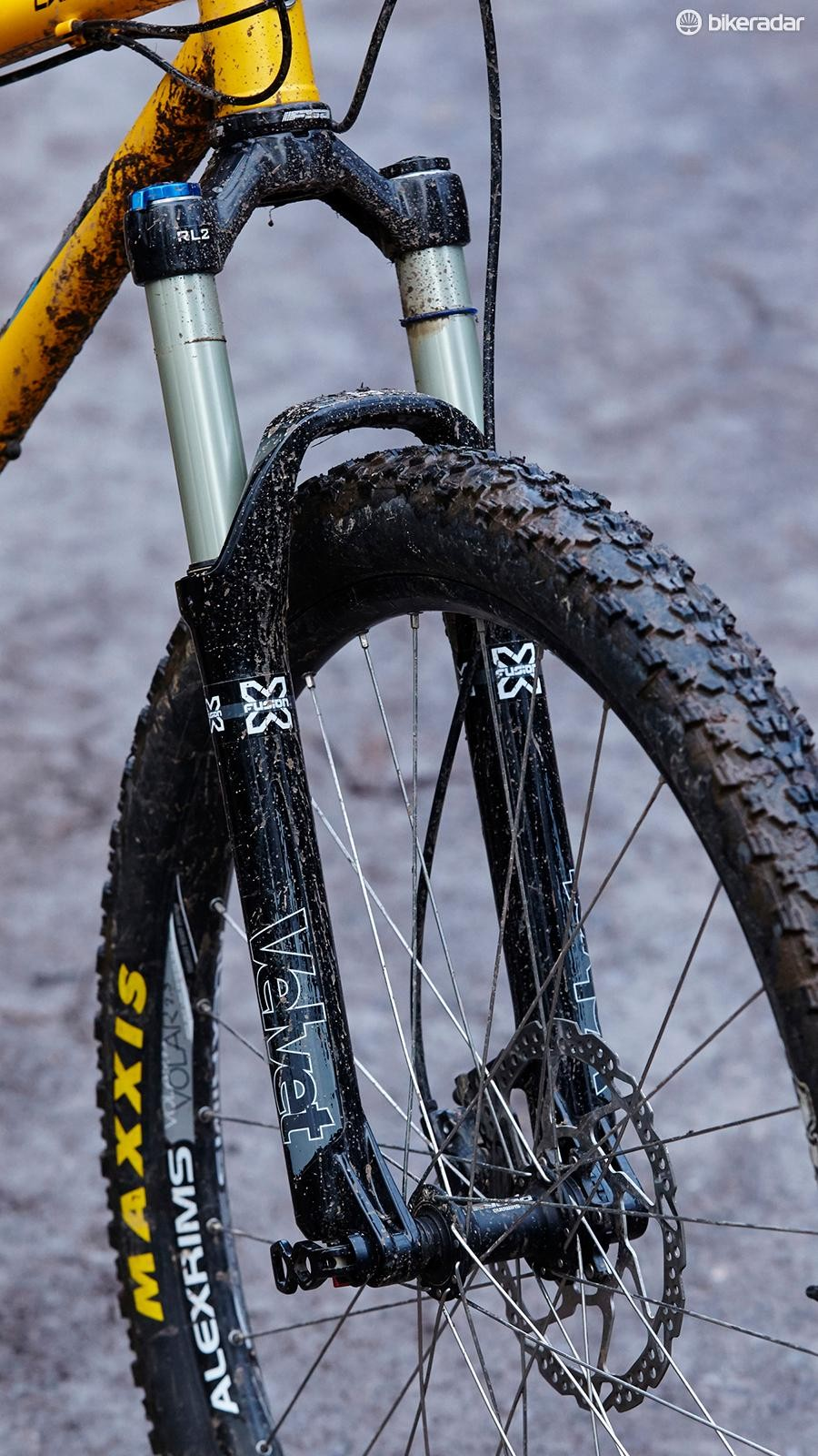 X-Fusion's Velvet fork is a decent performer, but can't match the test benchmark set by RockShox's Revelation