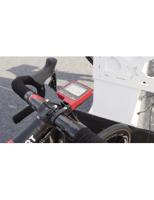 Gilbert uses an SRM power meter and a PowerControl-7 head unit to measure power output